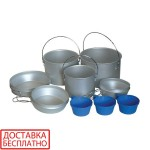 Набор посуды из алюминия на 3 персоны Tramp TRC-002