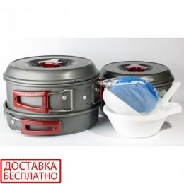 Набор посуды анодированной на 2-3 персоны Tramp TRC-024
