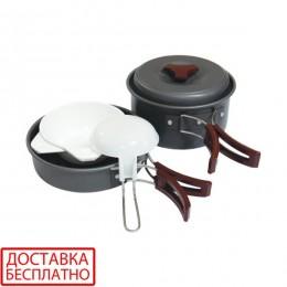 Набор посуды анодированный на 1-2 персоны Tramp TRC-025