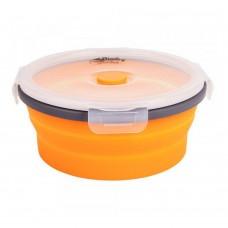 Контейнер складной с крышкой-защелкой Tramp 800ml orange