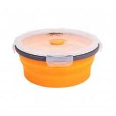 Контейнер складной с крышкой-защелкой Tramp 550ml orange