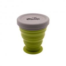 Стакан складной силиконовый с крышкой Tramp 200 ml olive